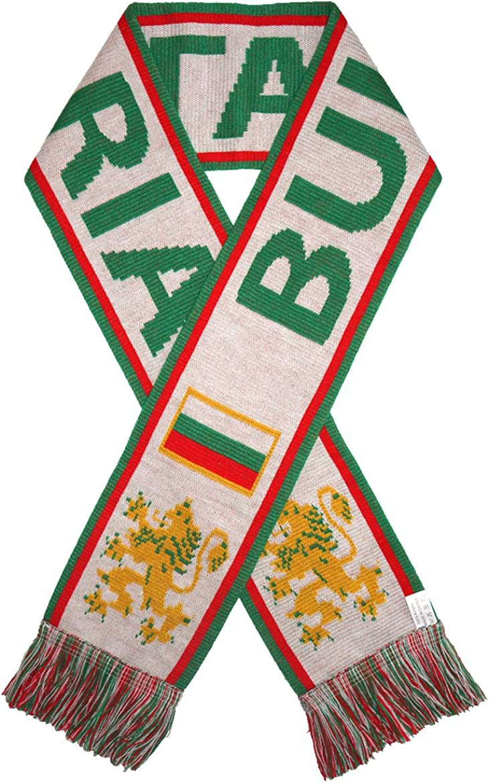 WHITE BULGARIA  Fans Favorite SOCCER Scarf