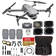 DJI Mavic 2 Pro Fly Farther Travel Bundle – 3 Batteries, Professional Carrying Case and All-U-Need Accessories