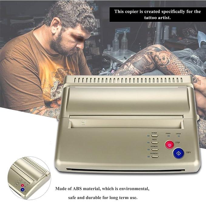 Filfeel Herramienta de Transferencia de Tatuajes, Máquina de la Impresora del Papel de la Plantilla térmica del Profesional A5 A4 de la copiadora del ...