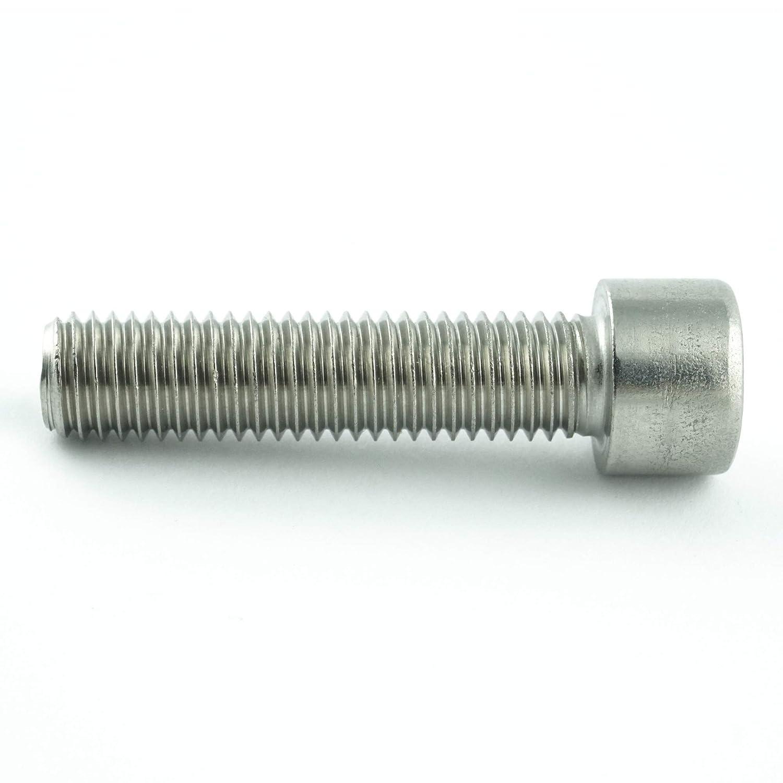 Viti a testa cilindrica ISO 4762 Acciaio inox A2 Viti filettate Viti cilindriche con esagono incassato inossidabile DIN 912