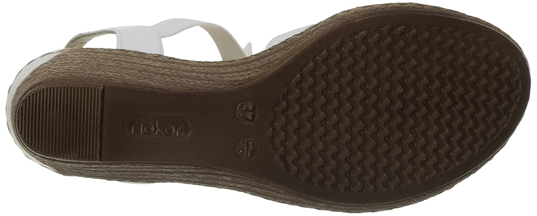 Rieker 62461 Keilabsatz Damen Offene Sandalen mit Keilabsatz 62461 ac0773
