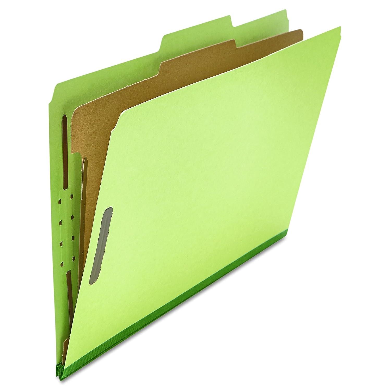 Pressboard Classification Folder, Legal, Four-Section, Green, 10 ...