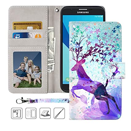 Amazon.com: Funda tipo cartera para Galaxy J7 2017, J7 Sky ...