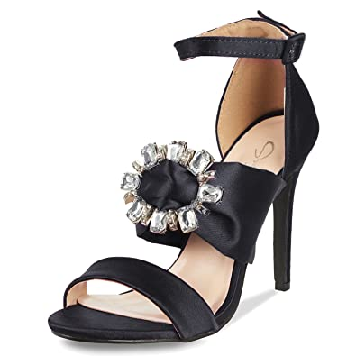 6d159071ac2 JSUN7 Women s High Heel Sandals Black Block Sandal Heels Office Shoes for  Women