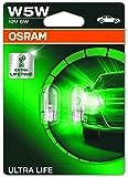 OSRAM ULTRALIFE W5W halogen, position and number plate light, 2825ULT-02B, 12V, double blister (Pack of 2)