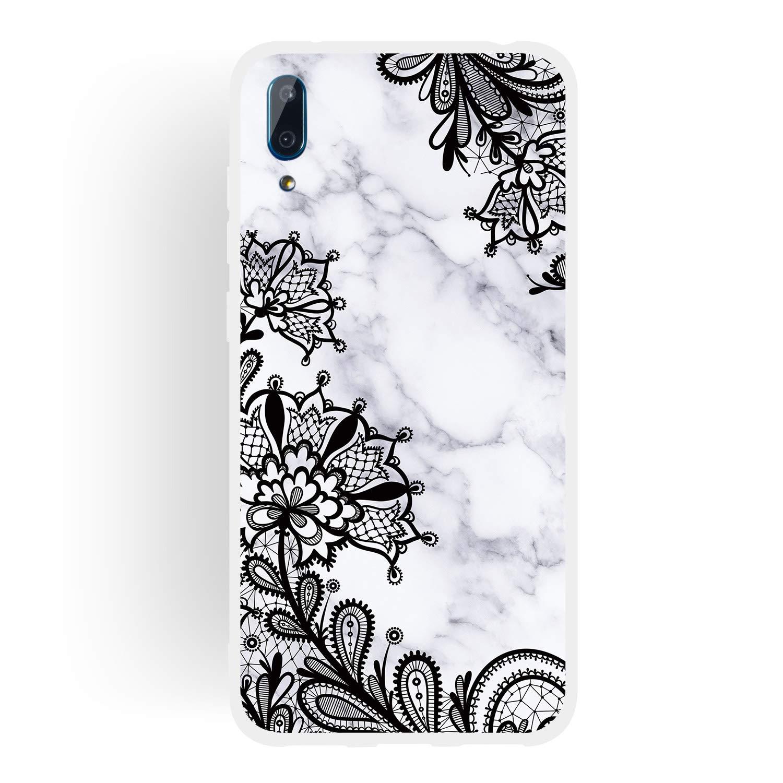 Englisch HopMore Kompatibel mit Huawei Y7 2019 Y7 Prime//PRO 2019 H/ülle Silikon Wei/ß Marmor Marble Muster Sto/ßfest Schutzh/ülle Protective D/ünn Handyh/ülle Silikonh/ülle Slim Case