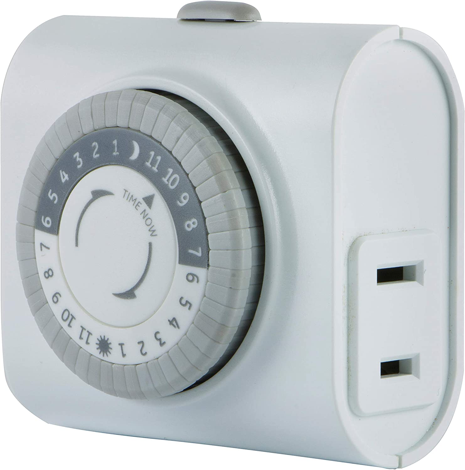 24-Hour Indoor Plug-In outlet Timer Switch ON//OFF Light Fan Appliance 3 Prong