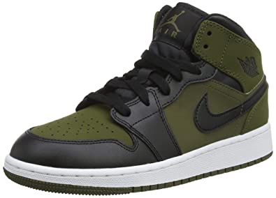 info for 4918f 7be89 NIKE - Air Jordan 1 Mid BG - 554725301 - Color Green - Size