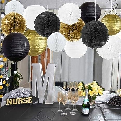 Kit de decoración para fiestas de cumpleaños, color dorado ...