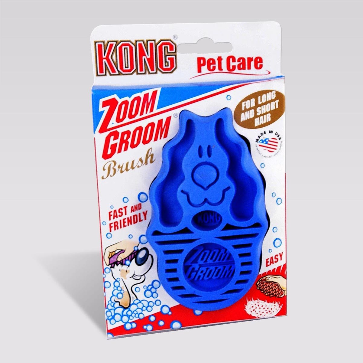 Zoom Groom by Kong mfg. BLUE