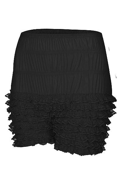 257b96861091 FOLOBE Womens Multi-Layer Ruffle Panties Sexy Pettipants Lace Leggings Sexy  Booty Shorts Black