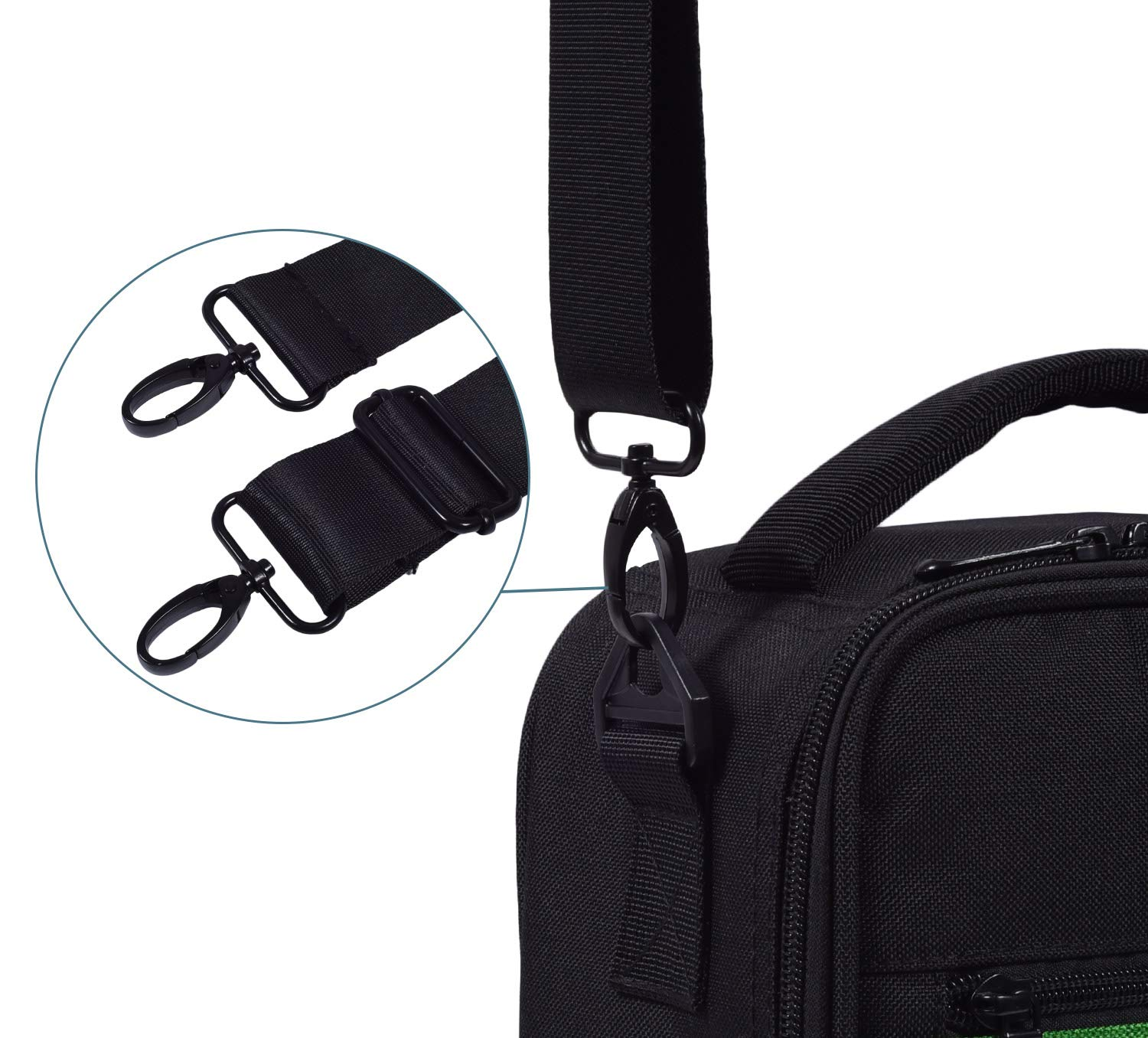 Universal Shoulder Strap Replacement Luggage Duffle Bag Strap Detachable Soft Padded Adjustable Belt with Metal Swivel Hooks Compatible Duffel Briefcase Computer Bags Laptop Case Messenger Bag, Black by CaseBuy (Image #6)