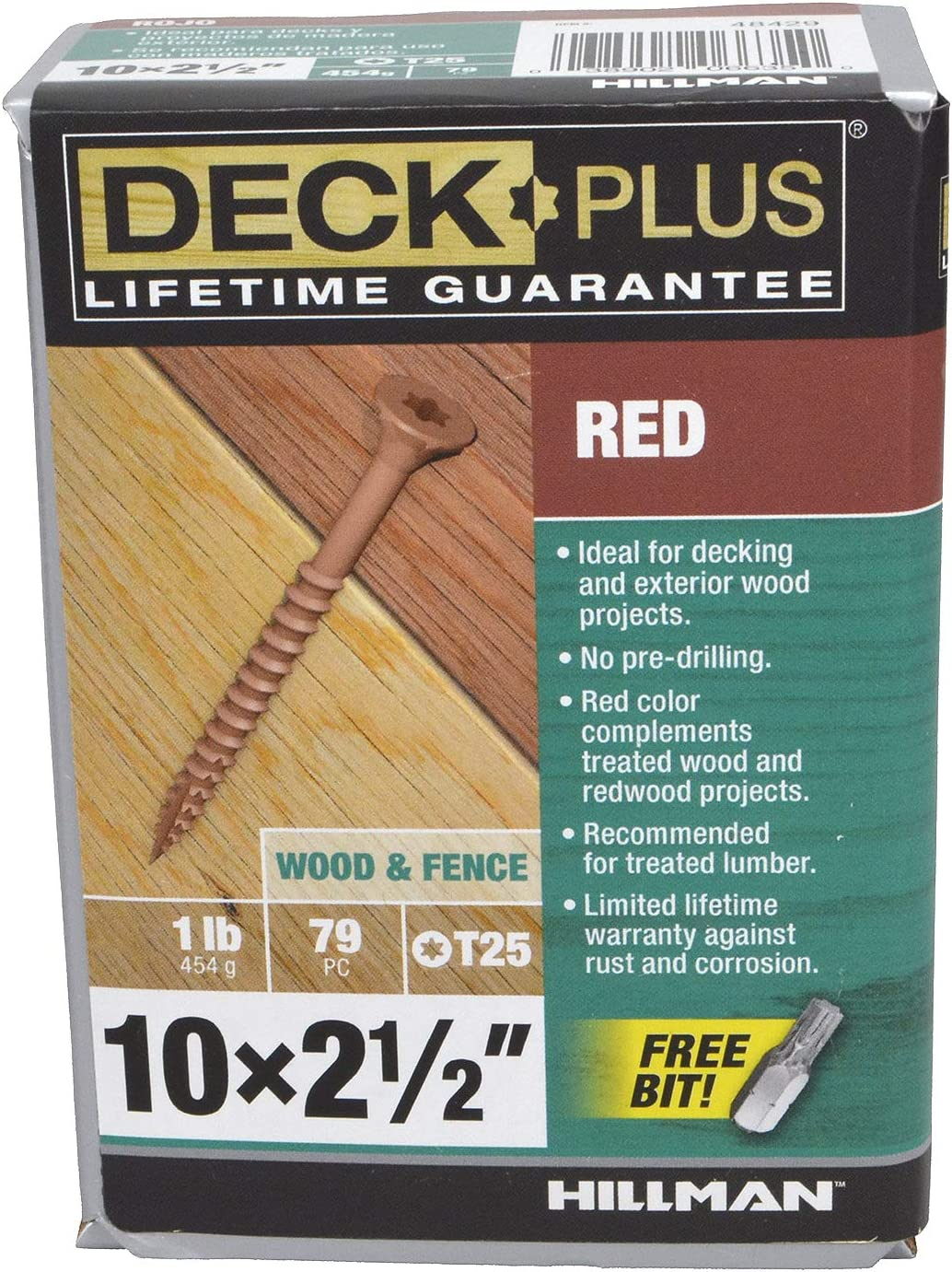 Red Deck Plus by Hillman 48429 Deck Screws 73 Piece