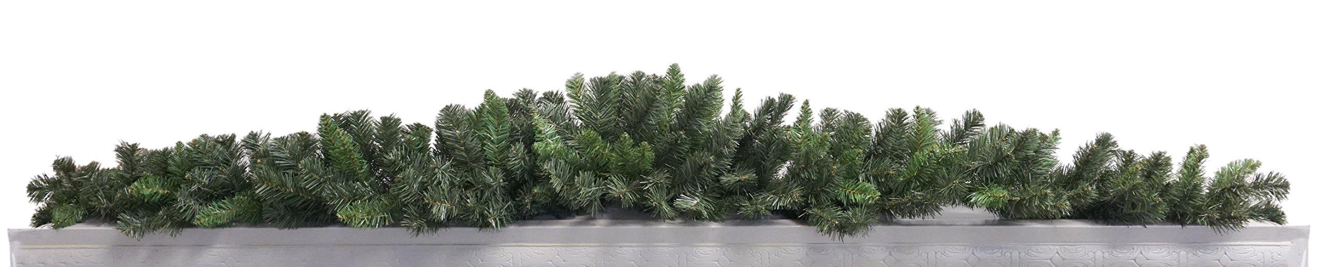 Artificial Pine Christmas Mantel Swag Garland - 6'