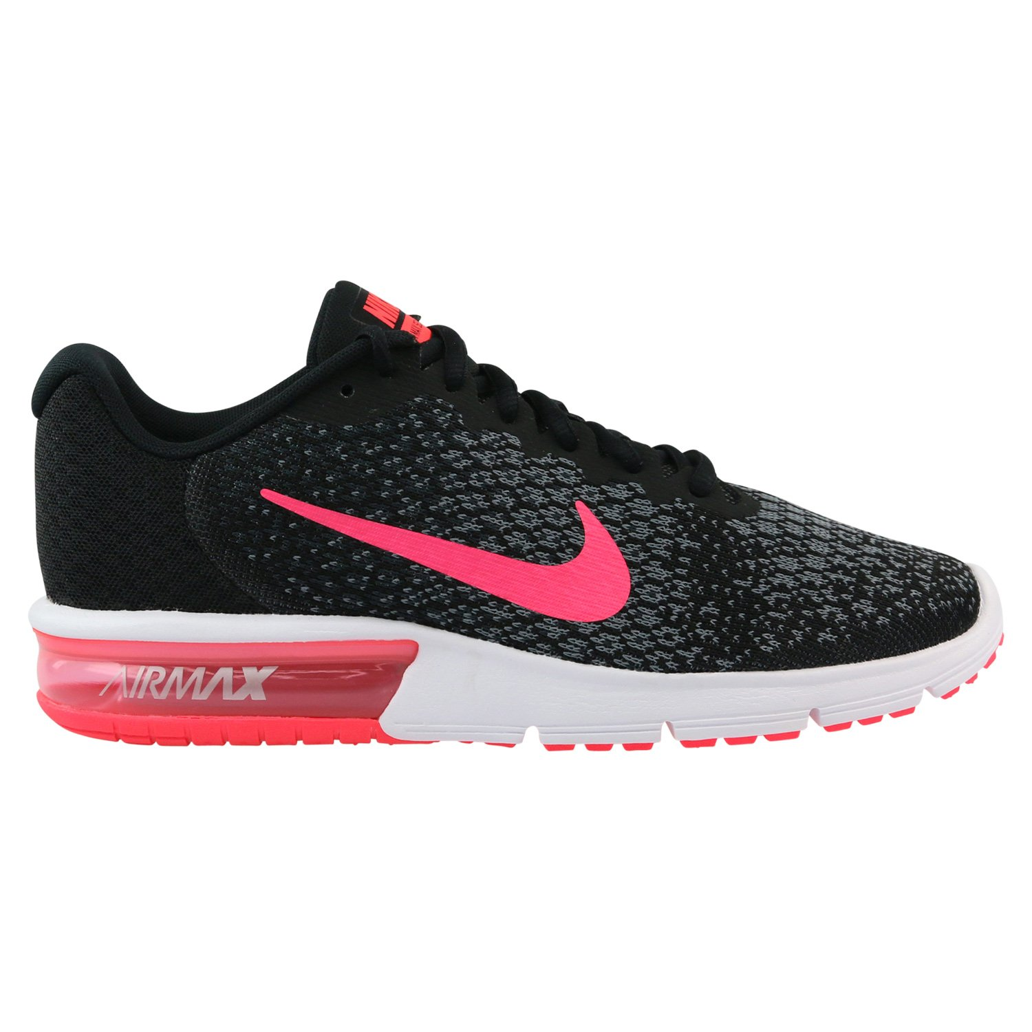 sports shoes 78cf1 15ca1 Galleon - Nike Women s Air Max Sequent 2 Running Shoe Black Racer  Pink Anthracite Cool Grey (9.5 B(M) US)