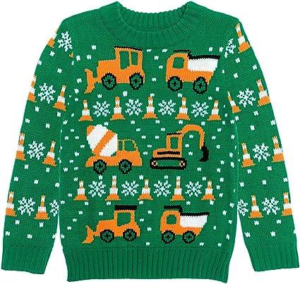 Firetrucks Firemen Ugly Christmas Sweater Toddler//Kids Sweatshirt Xmas Present