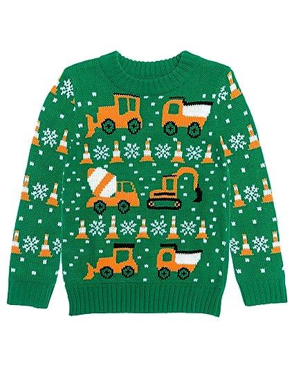 Amazoncom Tractors Bulldozers Ugly Christmas Sweater Holiday