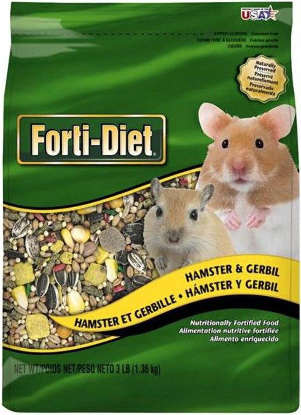 Kaytee Forti-Diet Hamster And Gerbil Food, 3-Pound