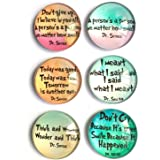 Dr. Seuss inspirational Refrigerator Magnets, set of six 4x4cm Dr. Seuss gifts for kids, Whiteboard Magnets for classroom or
