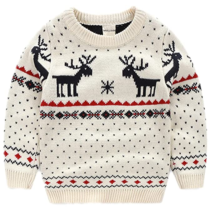 de652ac373a7 Mullsan Children's Fireplace Lovely Sweater Christmas Best Gift (2T, White)