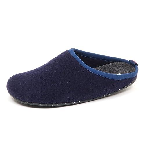 Camper D9898 (Without Box) Pantofole Uomo Wool Wabi Blu