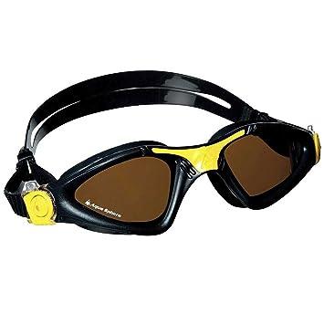 Aqua Sphere Kayenne – Gafas de natación, color negro/amarillo – Lentes polarizadas