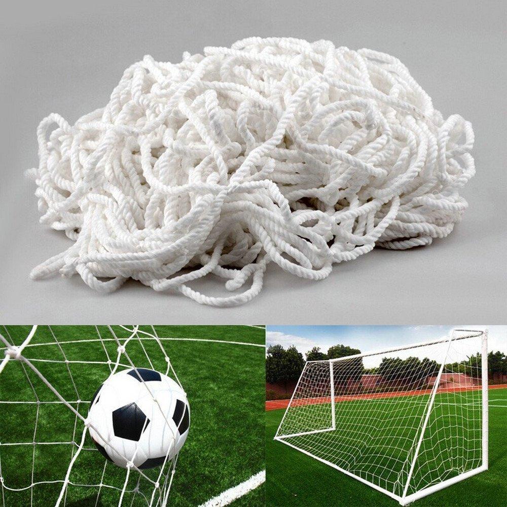 Fußballtornetz 7,3 x 2,4 m Tiefe Oben 0,80 / Unten 1,50 m, Weiß 11-a ...