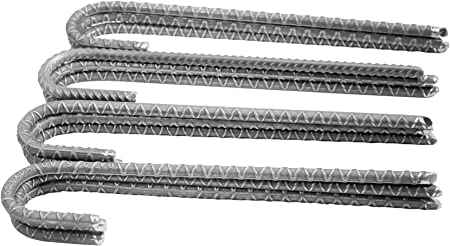 Pack of 40 Steel Rebar Ground Stakes J Hook Heavy Duty 18 Deer Fence Hard Firm Soil Set
