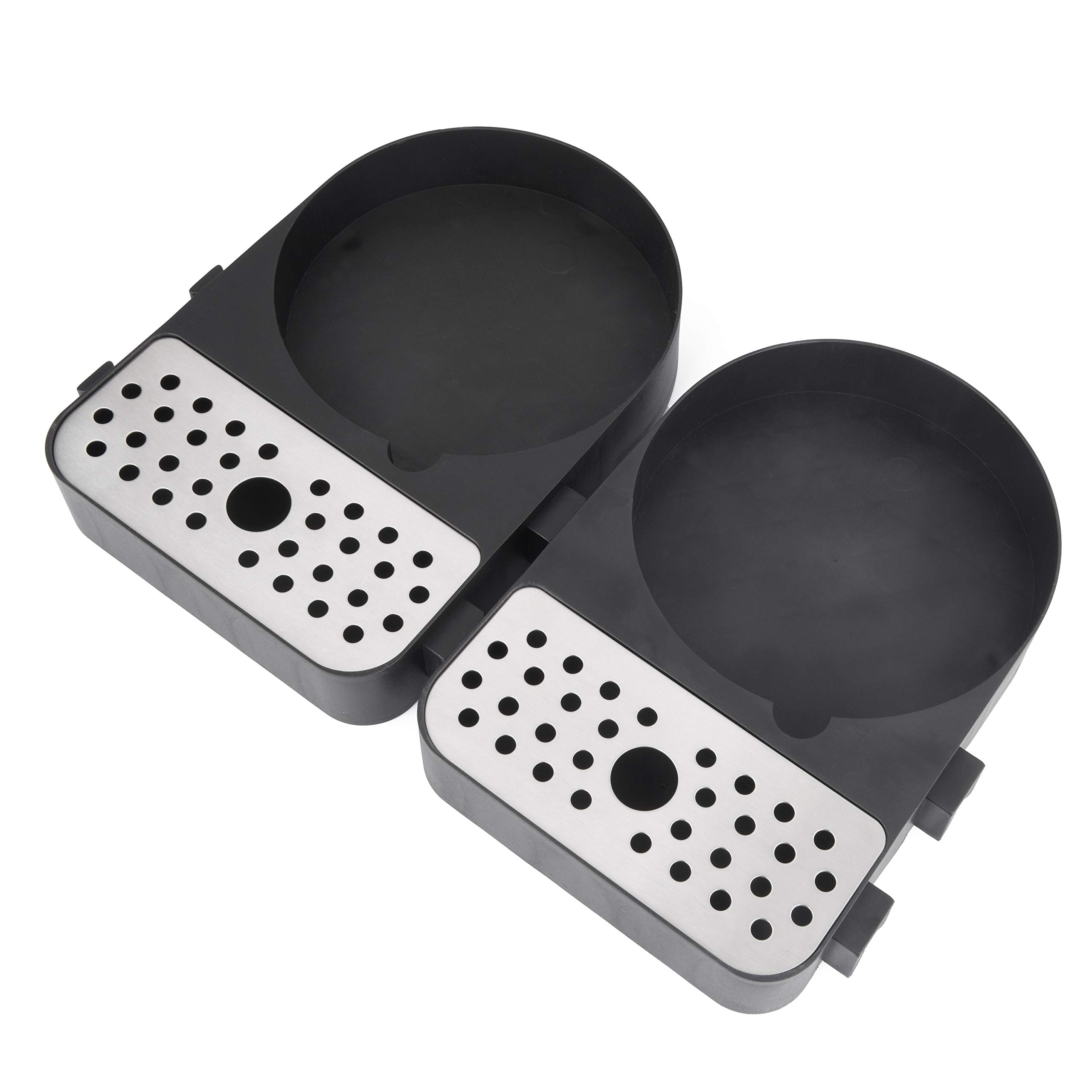 Cresimo Airpot Drip Trays / 2 Piece Set/Modular Design to hold as many Coffee Airpots or Carafes as necessary! Airpot has to be 6'' Wide or Less to Fit by Cresimo