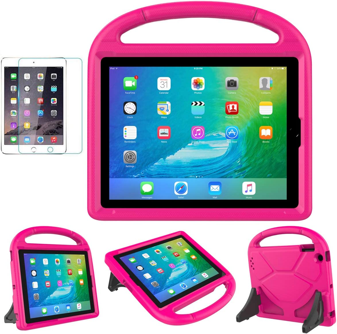 iPad 2/3/4(9.7 inch,Old Model) Case for Kids - SUPLIK Durable Shockproof Protective Handle Bumper Stand Cover with Screen Protector for Apple iPad 2nd,3rd,4th Generation, Pink