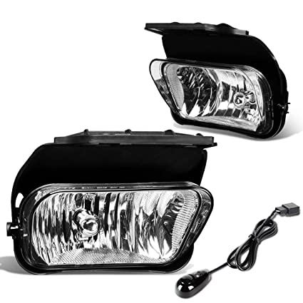 amazon com: for chevy silverado pair of bumper driving fog lights + wiring  kit + switch (clear lens): automotive