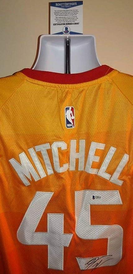 88a13a4b Donovan Mitchell Utah Jazz Autographed Signed Memorabilia Nike City Jersey  Xl Beckett Certed