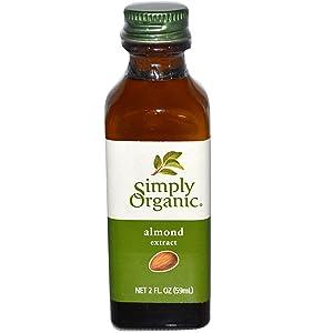 Simply Organic, Almond Extract, 2 fl oz (59 ml) Simply Organic, Almond Extract, 2 fl oz (59 ml) - 2pcs