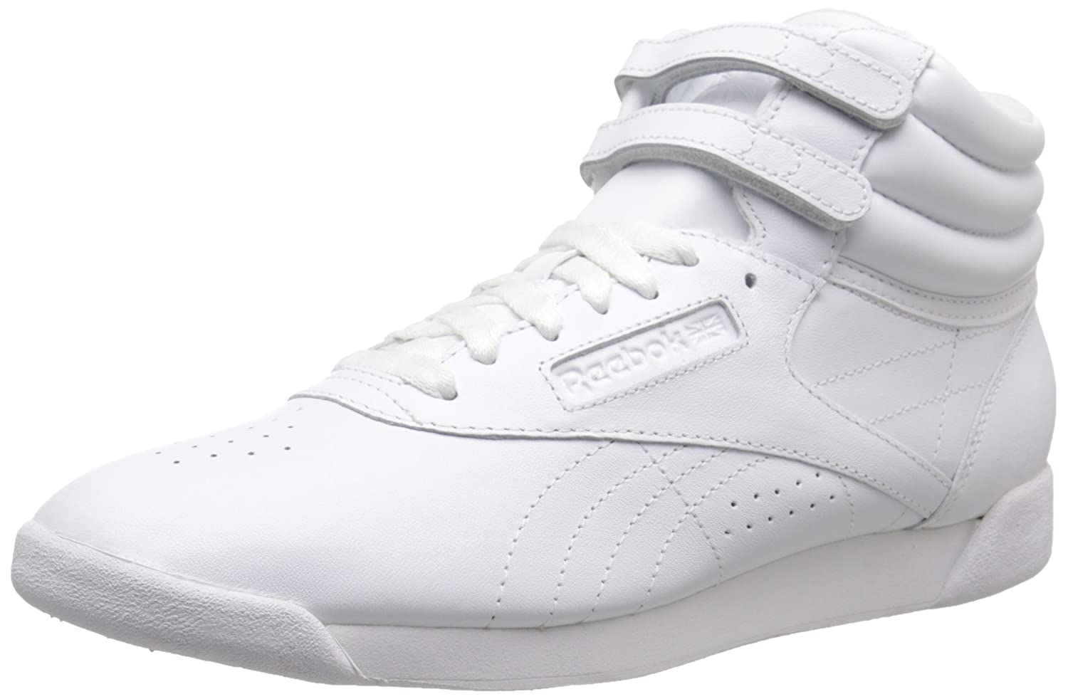Reebok Women's Freestyle Hi Lace-Up Sneaker B005SARMNU 10.5 B(M) US|White/White/White