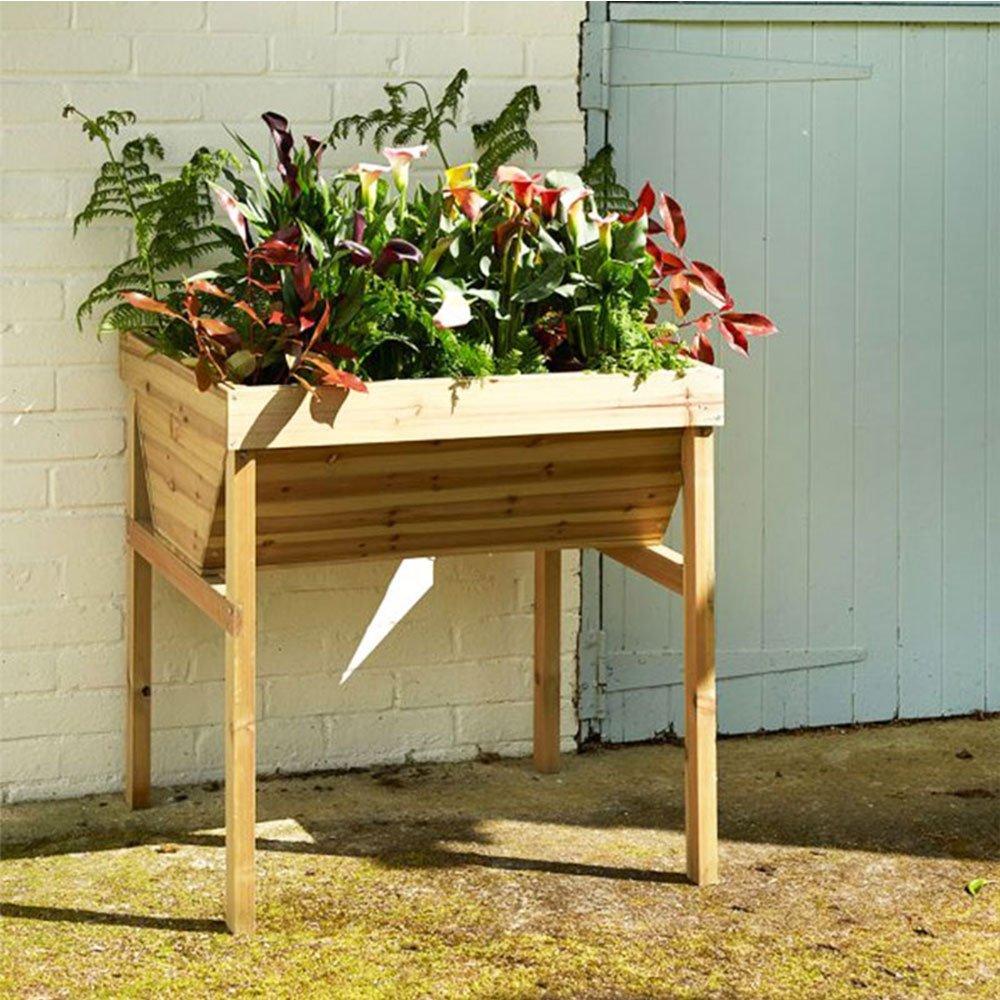 Holz V geformte Garten erhöhte Übertopf, durch