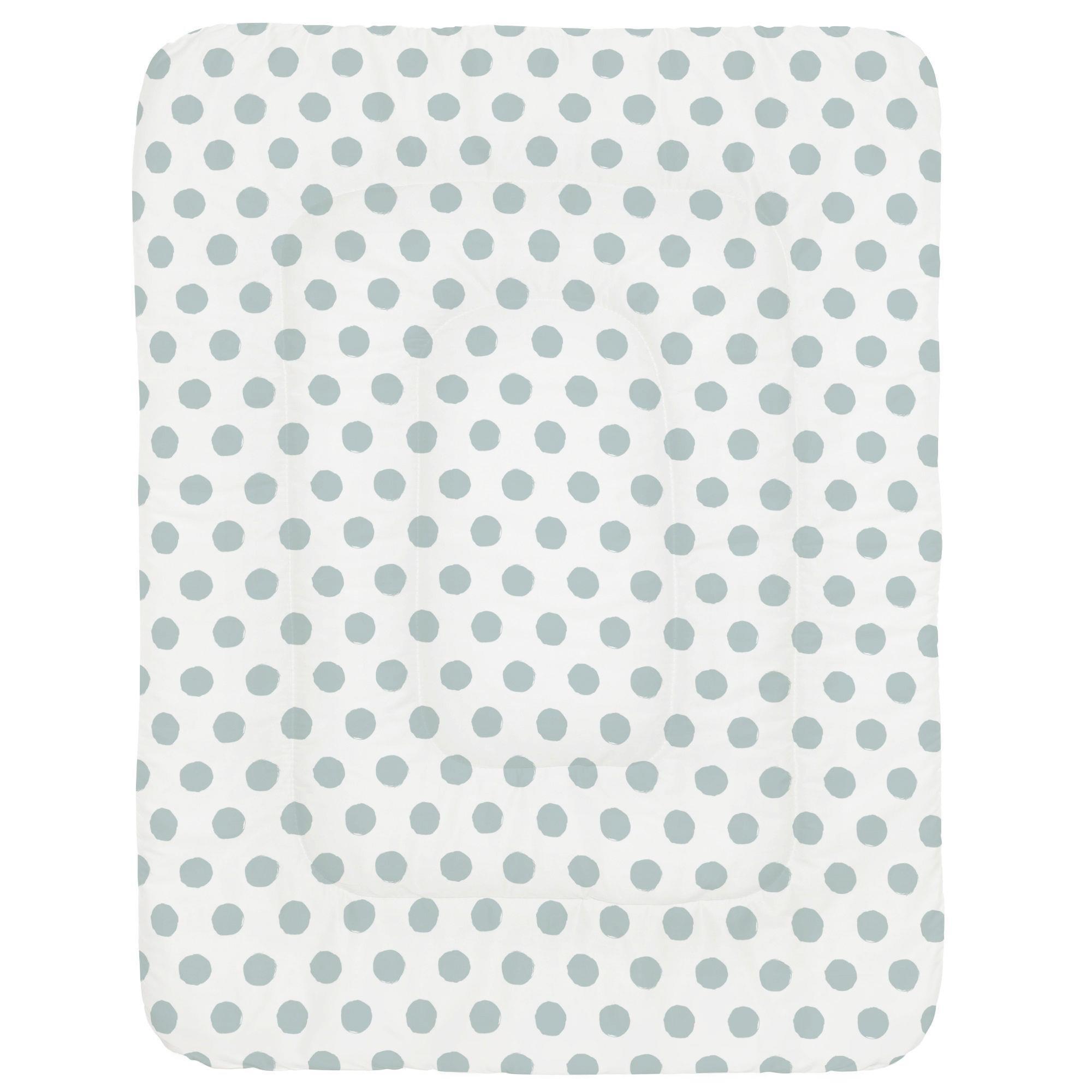 Carousel Designs Robins Egg Blue Brush Dots Crib Comforter