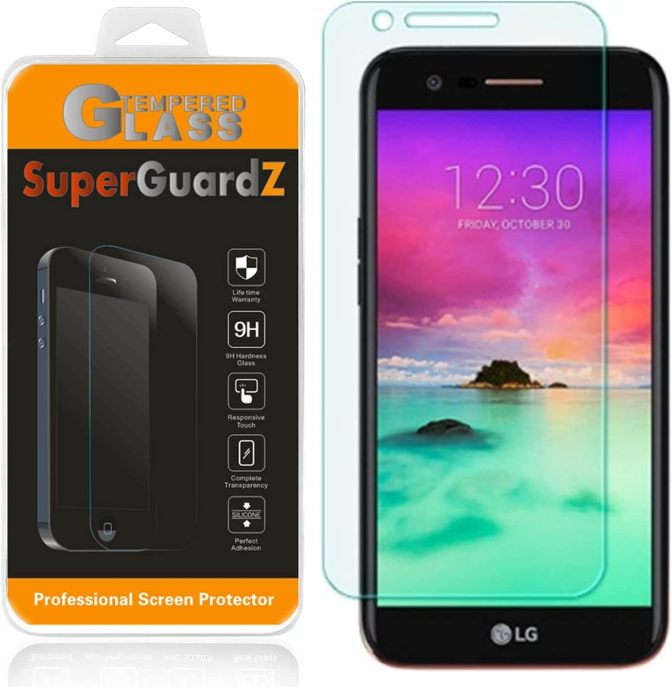0.3mm 9H 2.5D Round Edge Lifetime Replacement Anti-Scratch SuperGuardZ Tempered Glass, FULL COVERAGE, Edge-To-Edge Samsung Galaxy Note 8 Screen Protector Anti-Bubble