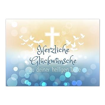 Glückwunschkarte Taufe Mit Umschlagmoderner Verlauf Mit