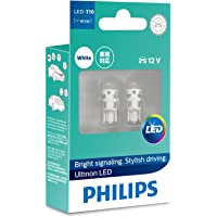 Philips Ultinon LED T10 W5W 12V White Wedge globes - boxed pair
