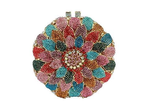 Yilongsheng Damas bolsos de embrague con diamantes de dispersión (multicolor)