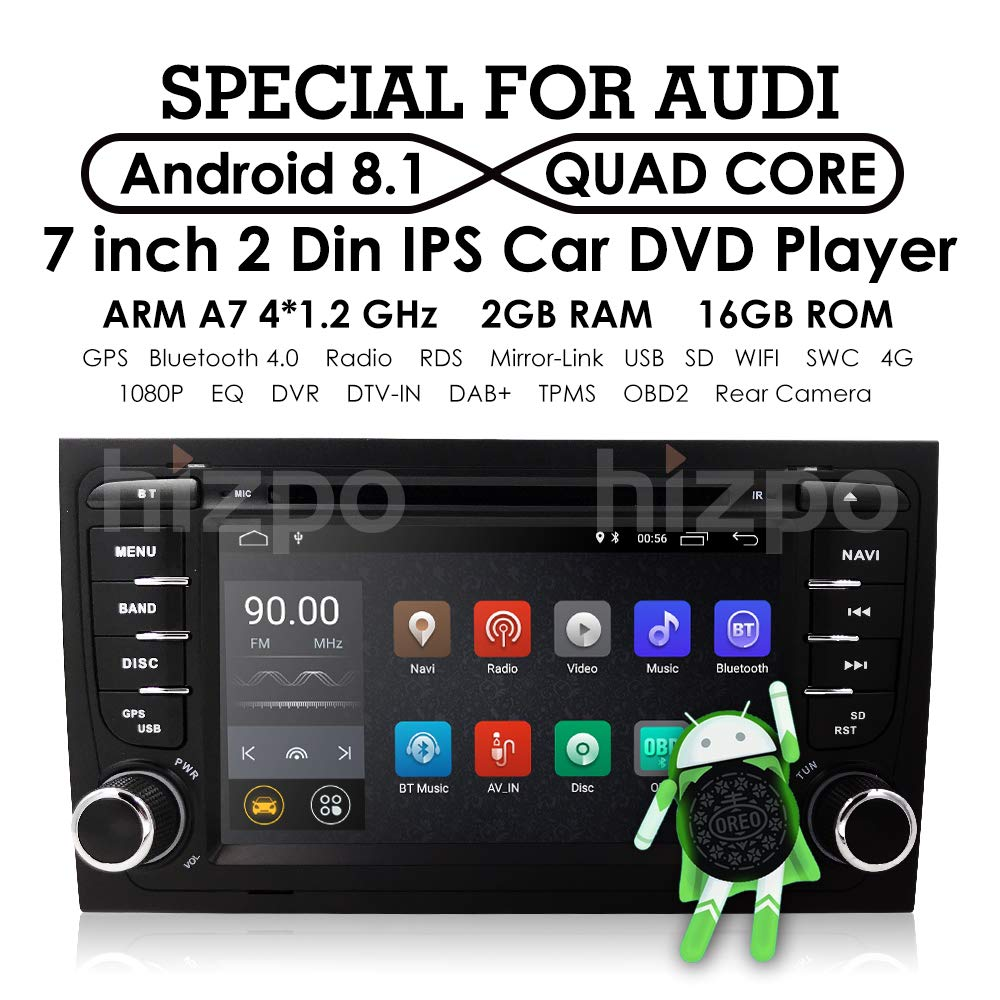Android 8 1 Car GPS Stereo for Audi A4 S4 RS4 B6 B7 Seat Exeo Quad Core DVD  Player WiFi BT 4G Radio RDS USB Mirrorlink SWC + Optional Digital