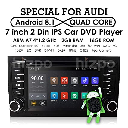Amazoncom Android 81 Car Gps Stereo For Audi A4 S4 Rs4 B6 B7 Seat