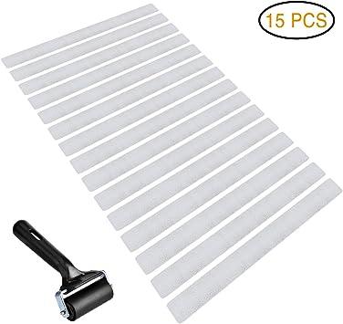 20 x bandas antideslizantes, banda antideslizante, transparente, para escaleras de bañera con una rueda: Amazon.es: Bricolaje y herramientas