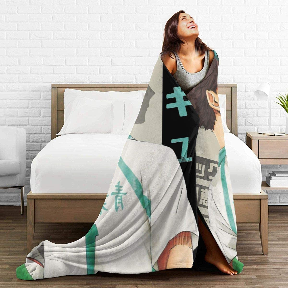 Super Soft Light Weight Throw Blanket Haikyuu Tooru Oikawa Summer Quilt for Bed Couch Sofa 60X50 Medium for Teen