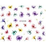 ネイルシール 水彩風 花 フラワー 選べる10種類