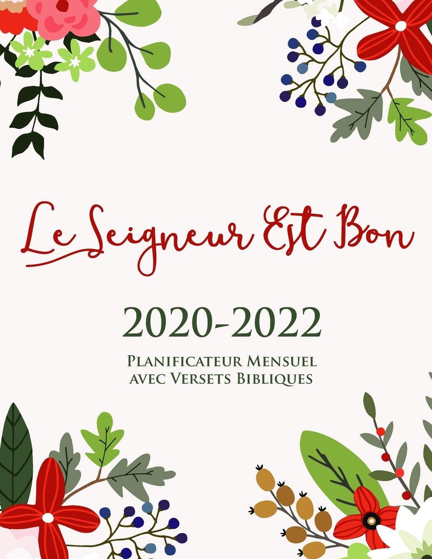 Calendrier Chrétien 2022 2020 2022 Planificateur Mensuel avec Versets Bibliques sur Ehaque