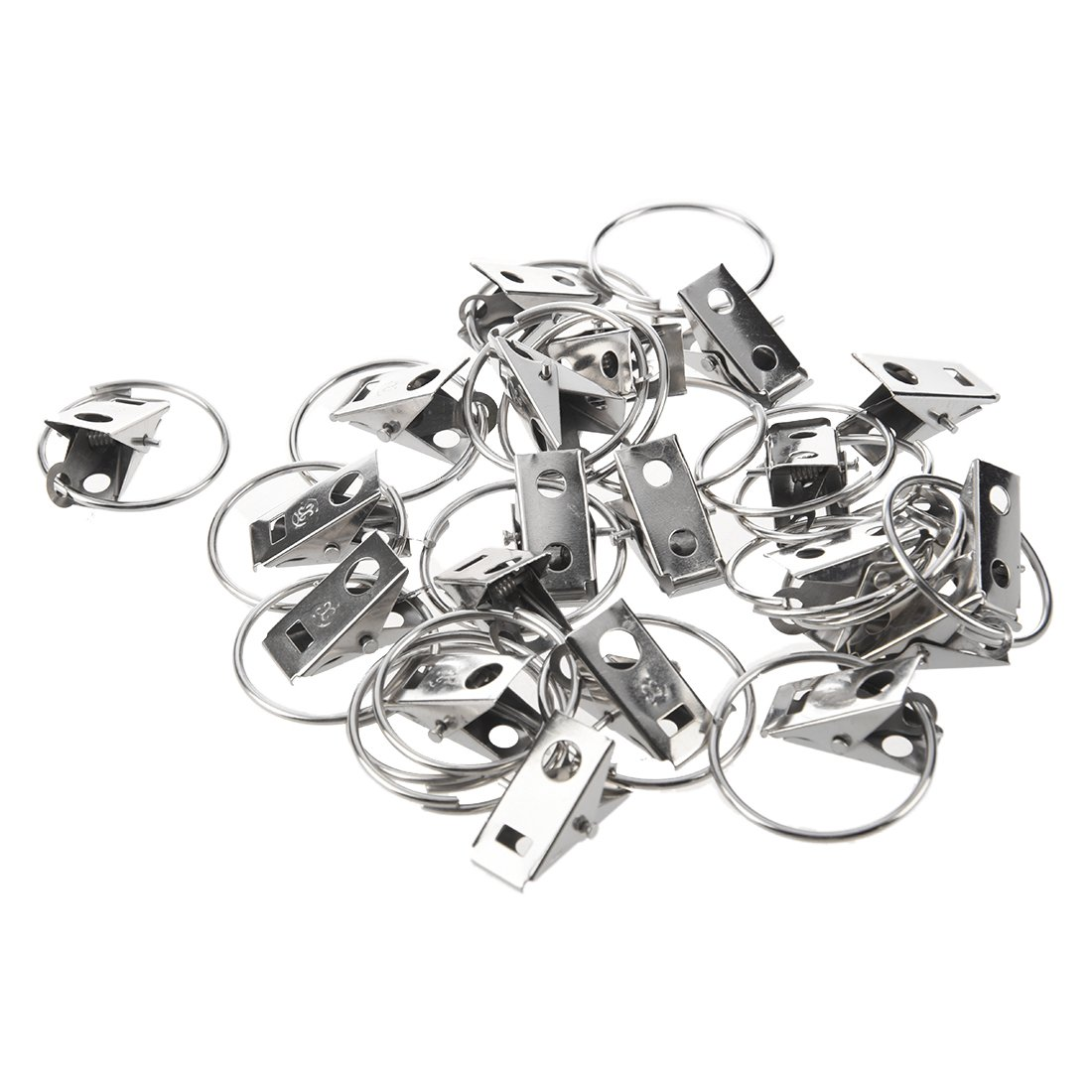 Curtains clips - SODIAL(R)20 pcs clip Rings for Curtain Rod Curtains Clips. SODIAL (R) TRTA11A