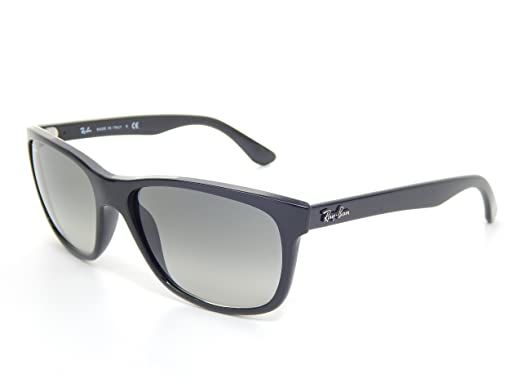 c932c2af37 New Ray Ban RB4181 601 71 Black Crystal Gray Gradient 57mm Sunglasses