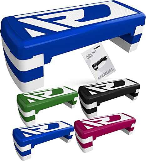 Adjustable height is 10cm or 15cm or 20cm Cardio equipment suitable for Home /& Office ACTIVE FOREVER Aerobic Step Board