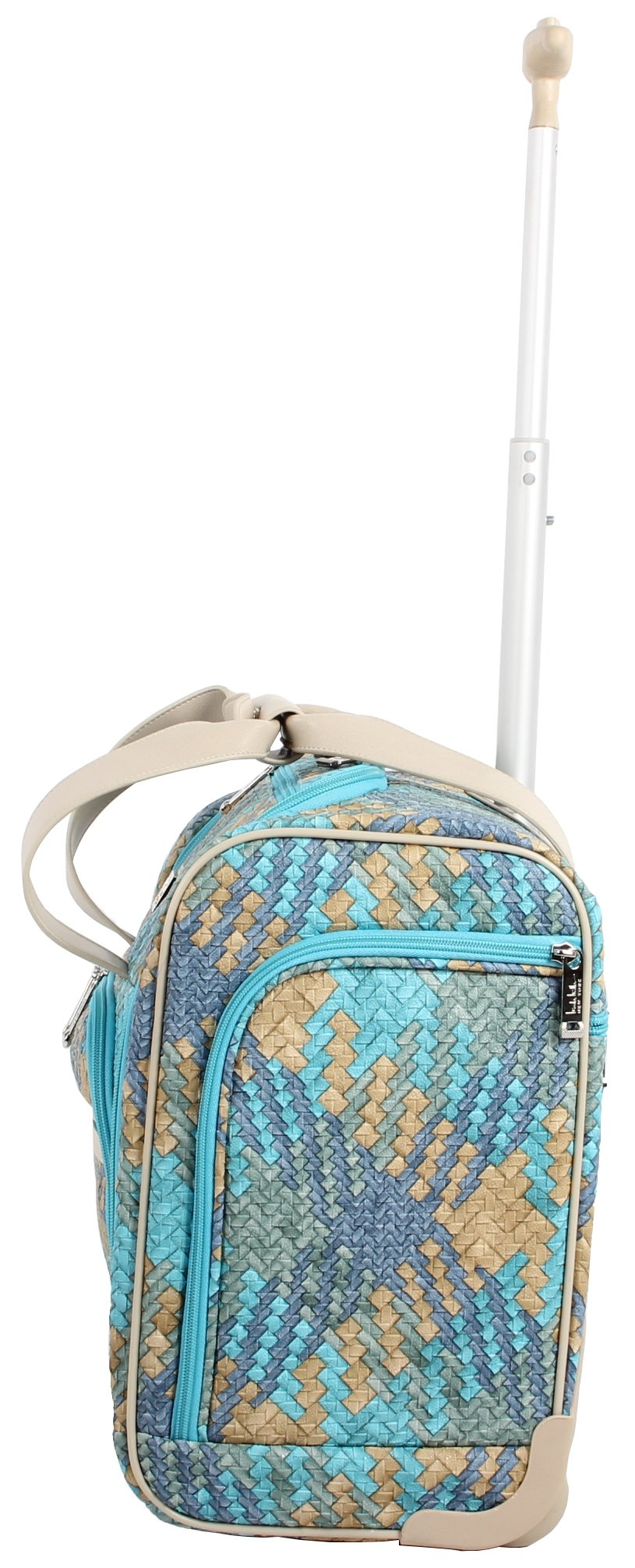 Nicole Miller Taylor Collection 15'' Under Seat Bag (Woven Teal) by Nicole Miller (Image #2)